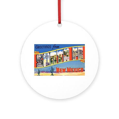 Santa Fe New Mexico Greetings Ornament (Round)