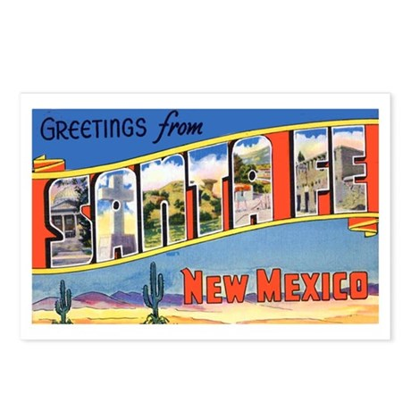 Santa Fe New Mexico Greetings Postcards (Package o