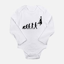 Basketball Evolution Jump Long Sleeve Infant Bodys