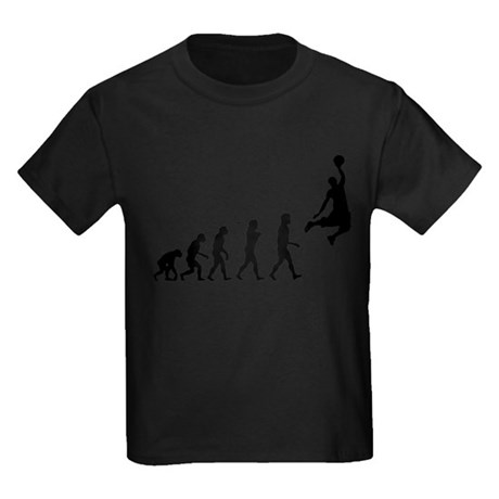 Basketball Evolution Jump Kids Dark T-Shirt
