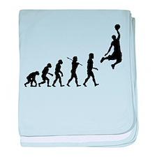 Basketball Evolution Jump baby blanket