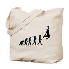 Basketball Evolution Jump Tote Bag