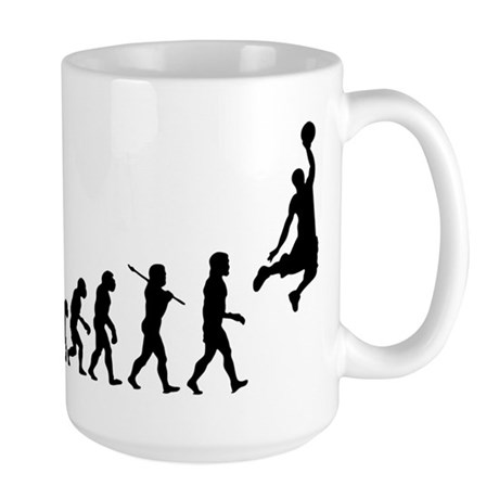 Basketball Evolution Jump Large Mug