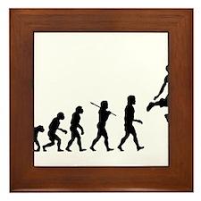Basketball Evolution Jump Framed Tile
