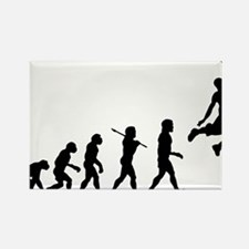 Basketball Evolution Jump Rectangle Magnet