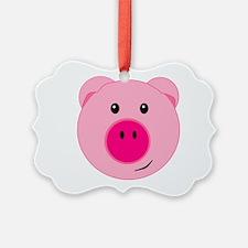Cute Pink Pig Ornament