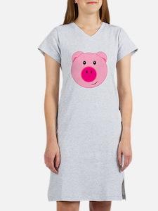 Cute Pink Pig Women's Nightshirt