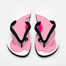 Cute Pink Pig Flip Flops