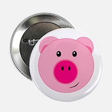 "Cute Pink Pig 2.25"" Button"
