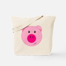 Cute Pink Pig Tote Bag