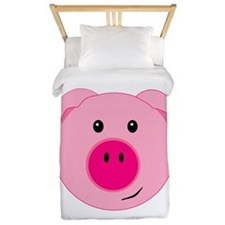 Cute Pink Pig Twin Duvet