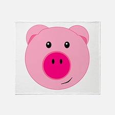 Cute Pink Pig Throw Blanket