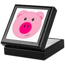 Cute Pink Pig Keepsake Box