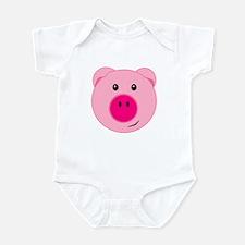 Cute Pink Pig Infant Bodysuit