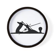 Hand Plane Silhouette Wall Clock