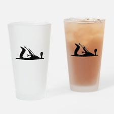 Hand Plane Silhouette Drinking Glass