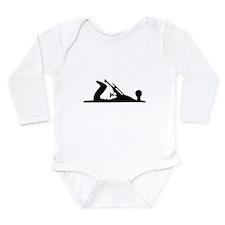 Hand Plane Silhouette Long Sleeve Infant Bodysuit