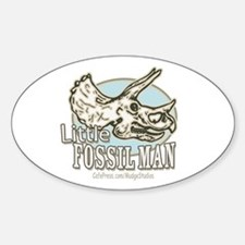 Little Fossil Man Oval Decal