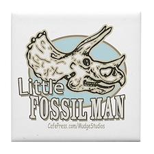 Little Fossil Man Tile Coaster
