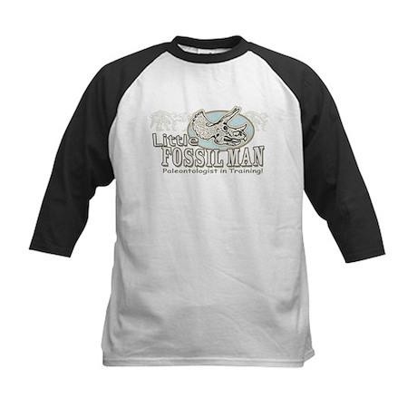 Little Fossil Man Kids Baseball Jersey