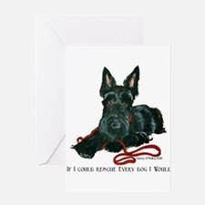 Scottish Terrier Rescue Me Greeting Card
