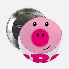 "Cute Pink Pig BBQ 2.25"" Button (10 pack)"