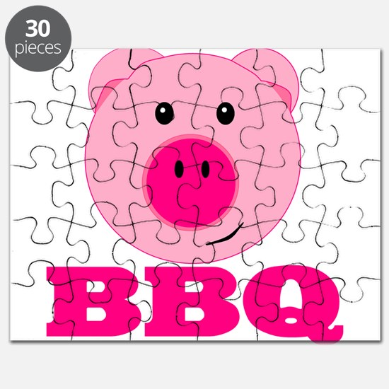 Cute Pink Pig BBQ Puzzle