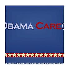 Obama Cares. by Euraputz Tile Coaster