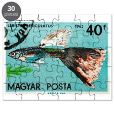 1962 Hungary Guppy Fish Postage Stamp Puzzle