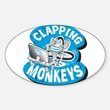 Clapping Monkey Sticker (Oval)