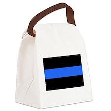 Unique Thin blue line Canvas Lunch Bag