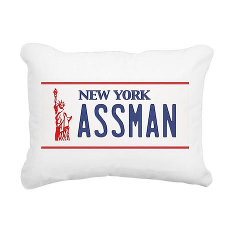 Assman License Plate Rectangular Canvas Pillow