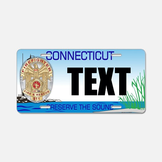 Connecticut Firefighter Custom License Plate