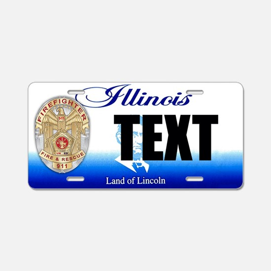 Illinois Firefighter Custom License Plate