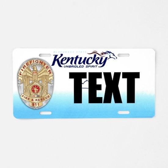 Kentucky Firefighter Custom License Plate