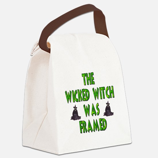Wicked Witch Was Framed Canvas Lunch Bag