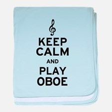 Keep Calm Oboe baby blanket