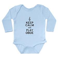 Keep Calm Oboe Long Sleeve Infant Bodysuit