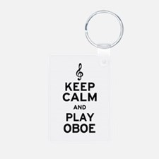 Keep Calm Oboe Keychains