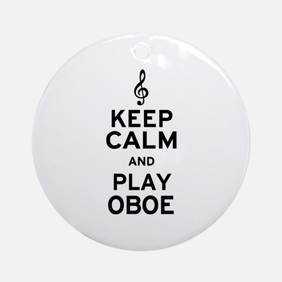 Keep Calm Oboe Ornament (Round)