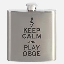 Keep Calm Oboe Flask