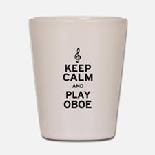 Keep Calm Oboe Shot Glass