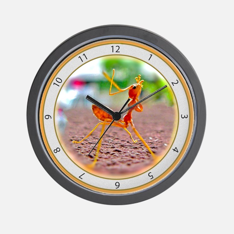 Red Ant Heads Up Wall Clock