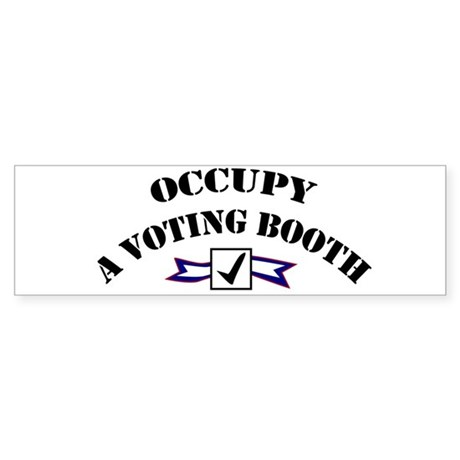 Occupy A Voting Booth Sticker (Bumper)