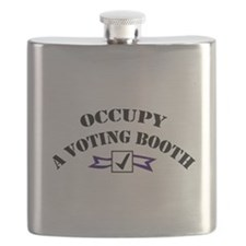 Occupy A Voting Booth Flask