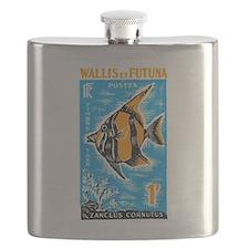 1963 Wallis et Futuna Moorish Fish Stamp Flask