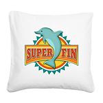 Super Fin Square Canvas Pillow
