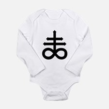 Hermetic Alchemical Cross Long Sleeve Infant Bodys