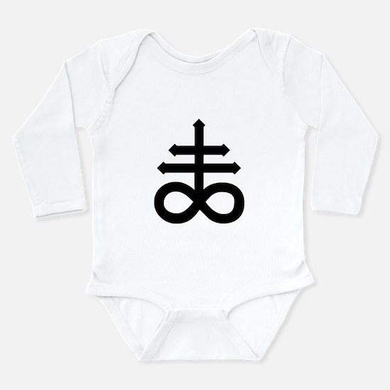 Hermetic Alchemical Cross Long Sleeve Infant Bodys