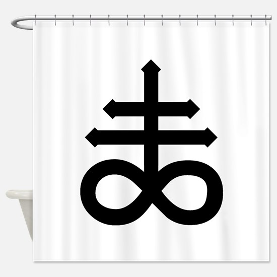 Hermetic Alchemical Cross Shower Curtain